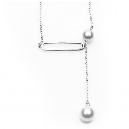 Colier Two Drops - Argint 9251