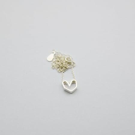 Colier Silver Heart - Argint 925 placat cu Aur Alb2