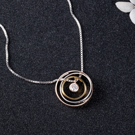 Colier PURE LOVE - Argint 925 placat cu Aur9