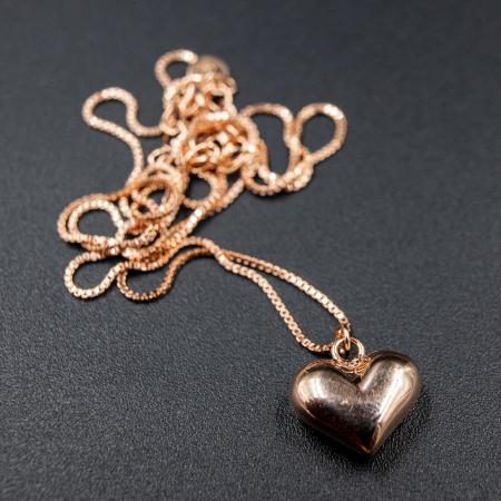 Colier MY HEART - Argint 925 placat cu Aur Roz4