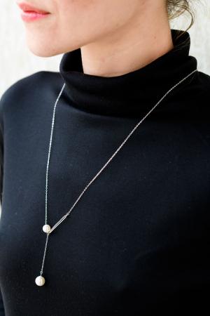 Colier Two Drops - Argint 9253
