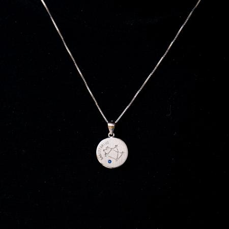 Colier Zodiac SAGETATOR / Sagittarius - Argint 9250