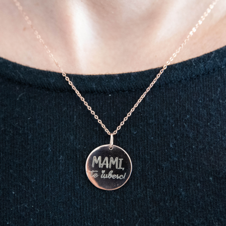 Colier MAMI, TE IUBESC - Argint 925 placat cu aur [0]