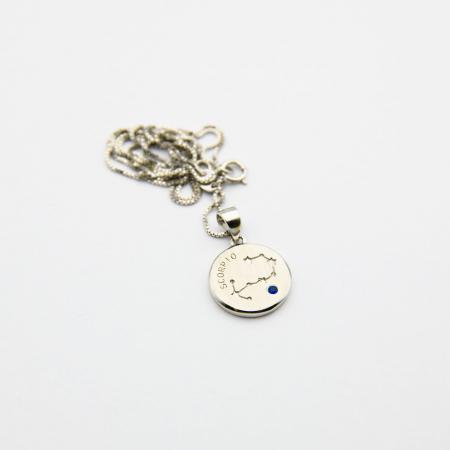 Colier Zodiac Scorpion / Scorpio - Argint 9253