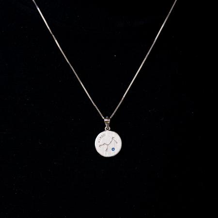 Colier Zodiac Fecioara / Virgo - Argint 9250