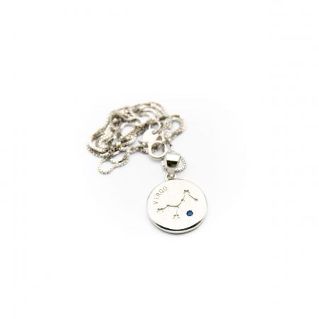 Colier Zodiac Fecioara / Virgo - Argint 9251