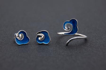 Inel OCEAN WAVES - Argint 9253