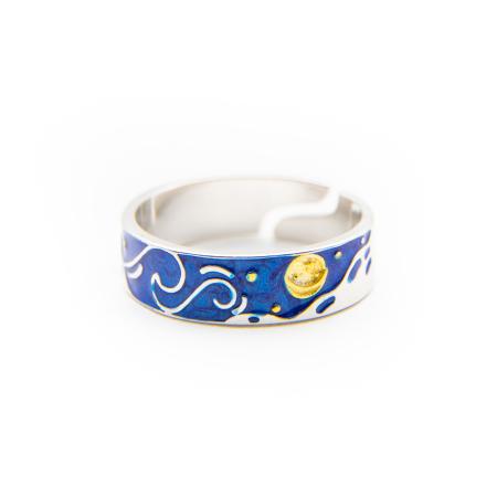 Inel Argint 925 Full Moon - Van Gogh ' Cerul Instelat '1