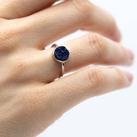 Inel Deep Blue Argint 9250