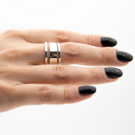 Inel Strips Argint 925 [0]