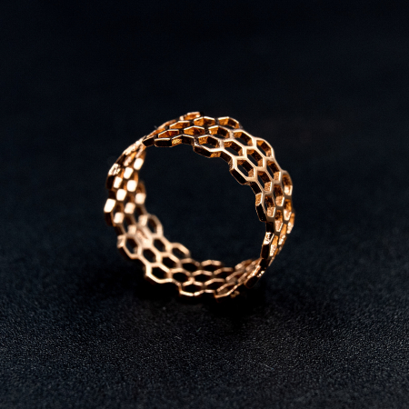 Inel Honeycomb Argint 925 - Roz0