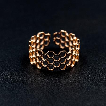 Inel Honeycomb Argint 925 - Roz2