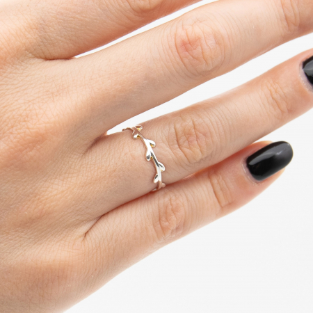 Inel LEAVES Argint 9250