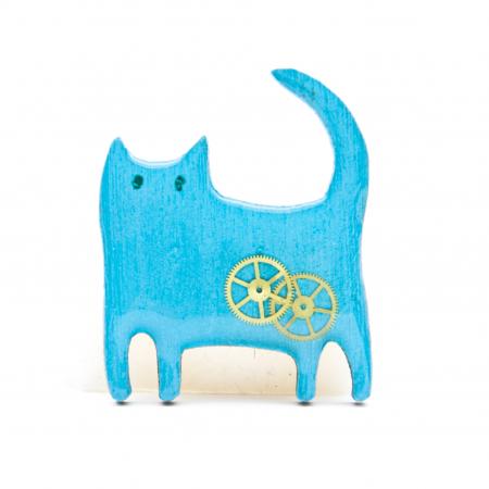 Brosa Lemn Pisica 'Zaza'5