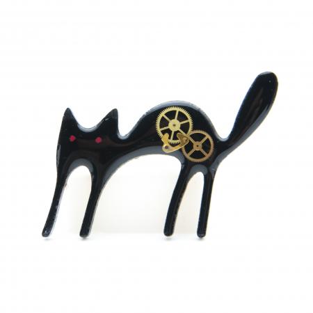 Brosa Lemn Pisica 'Zburli'2