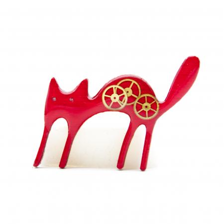 Brosa Lemn Pisica 'Zburli'4