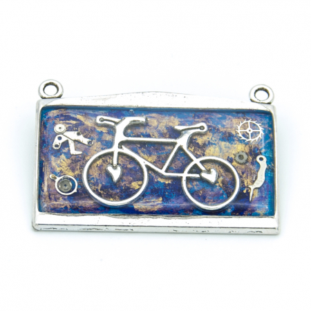 Pandantiv Bicicleta Albastru 0