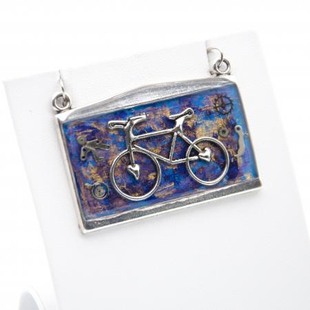 Pandantiv Bicicleta Albastru 1