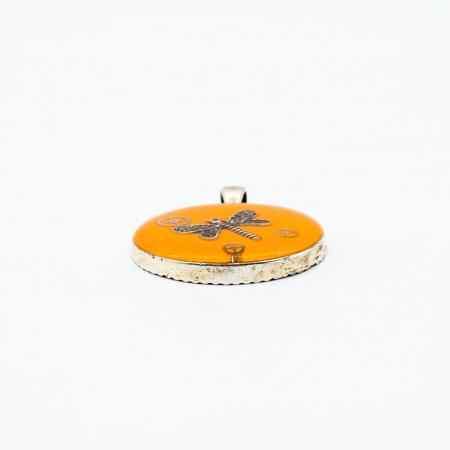 Pandantiv Portocaliu - Libelula1