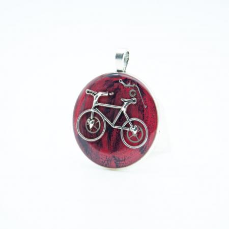 Pandantiv Rosu Bicicleta 1