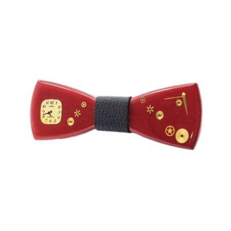 Papion din lemn - Red Kiss1