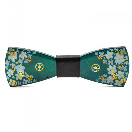 Papion Verde cu Floricele0