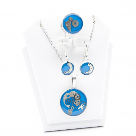 Set Bijuterii ' Blue Sapphire ' Albastru -EDITIE LIMITATA1