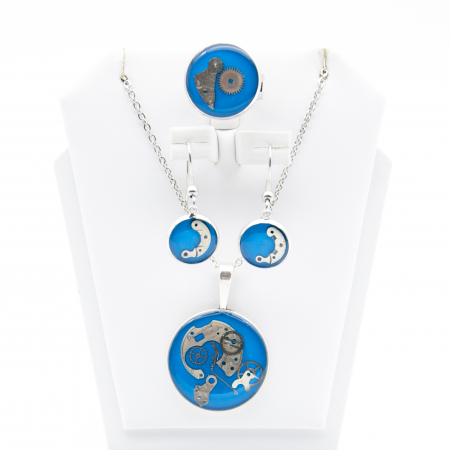 Set Bijuterii ' Blue Sapphire ' Albastru -EDITIE LIMITATA0
