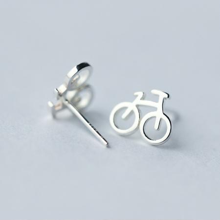 Set Cercei Bicicleta - Argint 9253