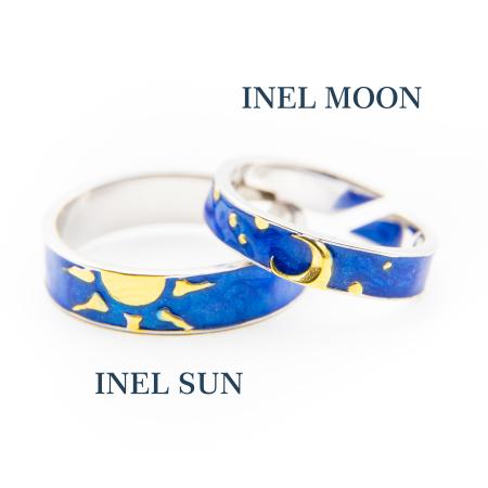 Set Inele Argint 925, Sun & Moon - Colectia Van Gogh ' Soarele & Luna '4