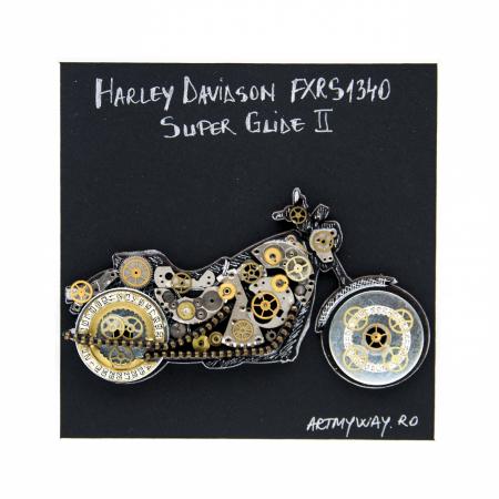 Tablou Harley Davidson Super Glide II - Colectia Born to Ride2