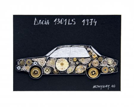 Tablou Dacia 1301LS 1974 - Colectia ART my Cars1