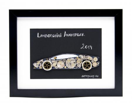 Tablou Lamborghini Aventador 2014  Colectia ART my Cars0