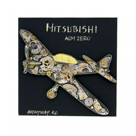 Tablou Mitsubishi A6M Zero - Avion WWII - SteamWall1