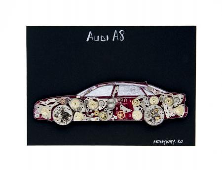 Tablou Audi A8  Colectia ART my Cars3