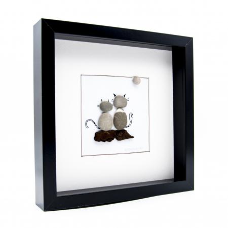 Tablou ZEN Cats - Colectia Pebble Art1