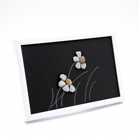 Tablou Windy Days - Negru - Colectia Pebble Art1