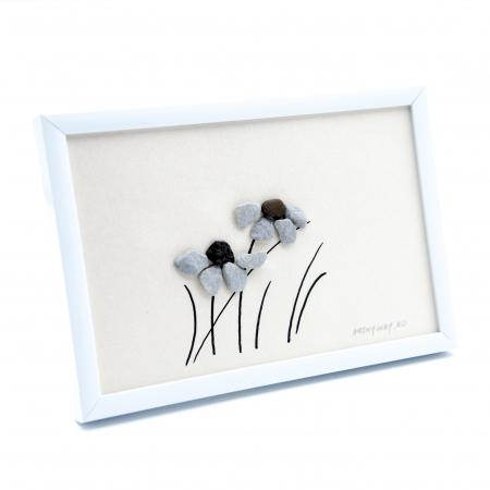 Tablou Windy Days - Roz - Colectia Pebble Art1