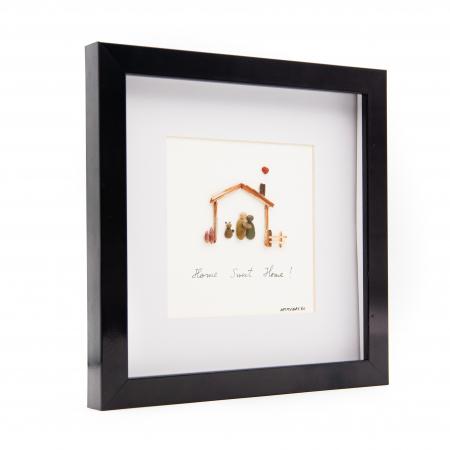 Tablou HOME SWEET HOME - Colectia Pebble Art2