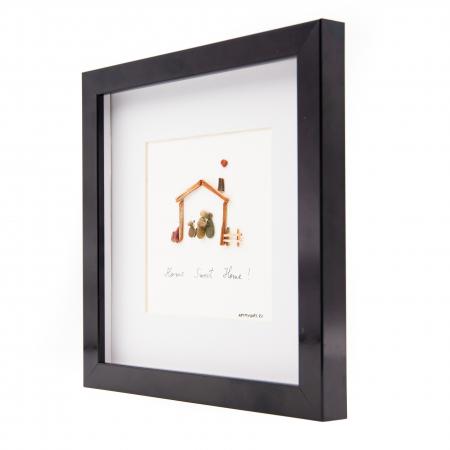 Tablou HOME SWEET HOME - Colectia Pebble Art1