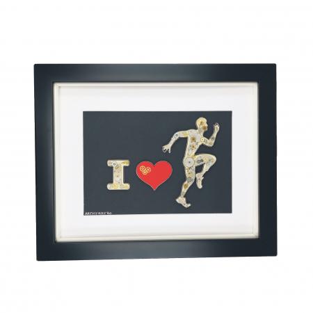 Tablou ' I LOVE RUNNING ' - Colectia BornToRide [0]