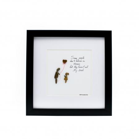 Tablou My Dad, My Hero - Colectia Pebble Art0