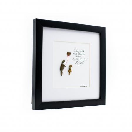 Tablou My Dad, My Hero - Colectia Pebble Art1