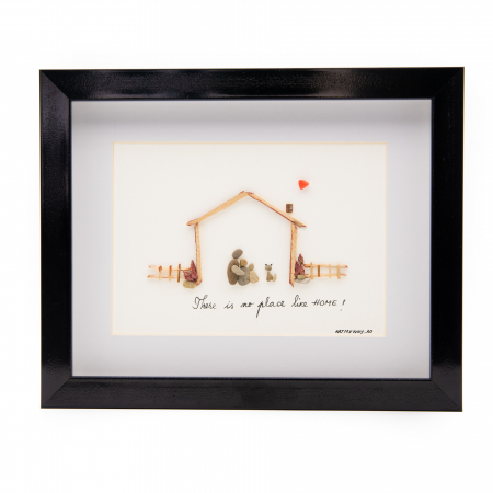 Tablou THERE IS NO PLACE LIKE HOME - Colectia Pebble Art0