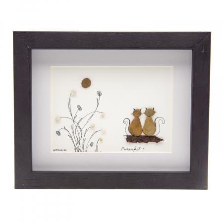 Tablou DRAGOSTE PISICEASCA - Colectia Pebble Art