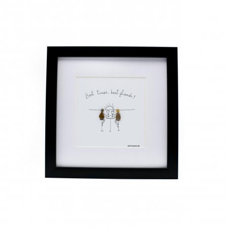 Tablou Best Friends  - Colectia Pebble Art0