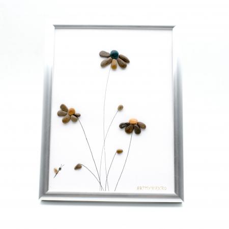 Tablou Windy Days Alb - Colectia Pebble Art - EDITIE LIMITATA0