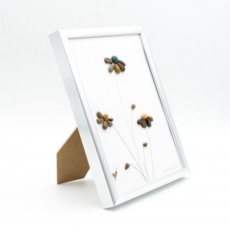 Tablou Windy Days Alb - Colectia Pebble Art - EDITIE LIMITATA2