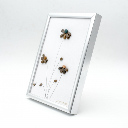 Tablou Windy Days Alb - Colectia Pebble Art - EDITIE LIMITATA1