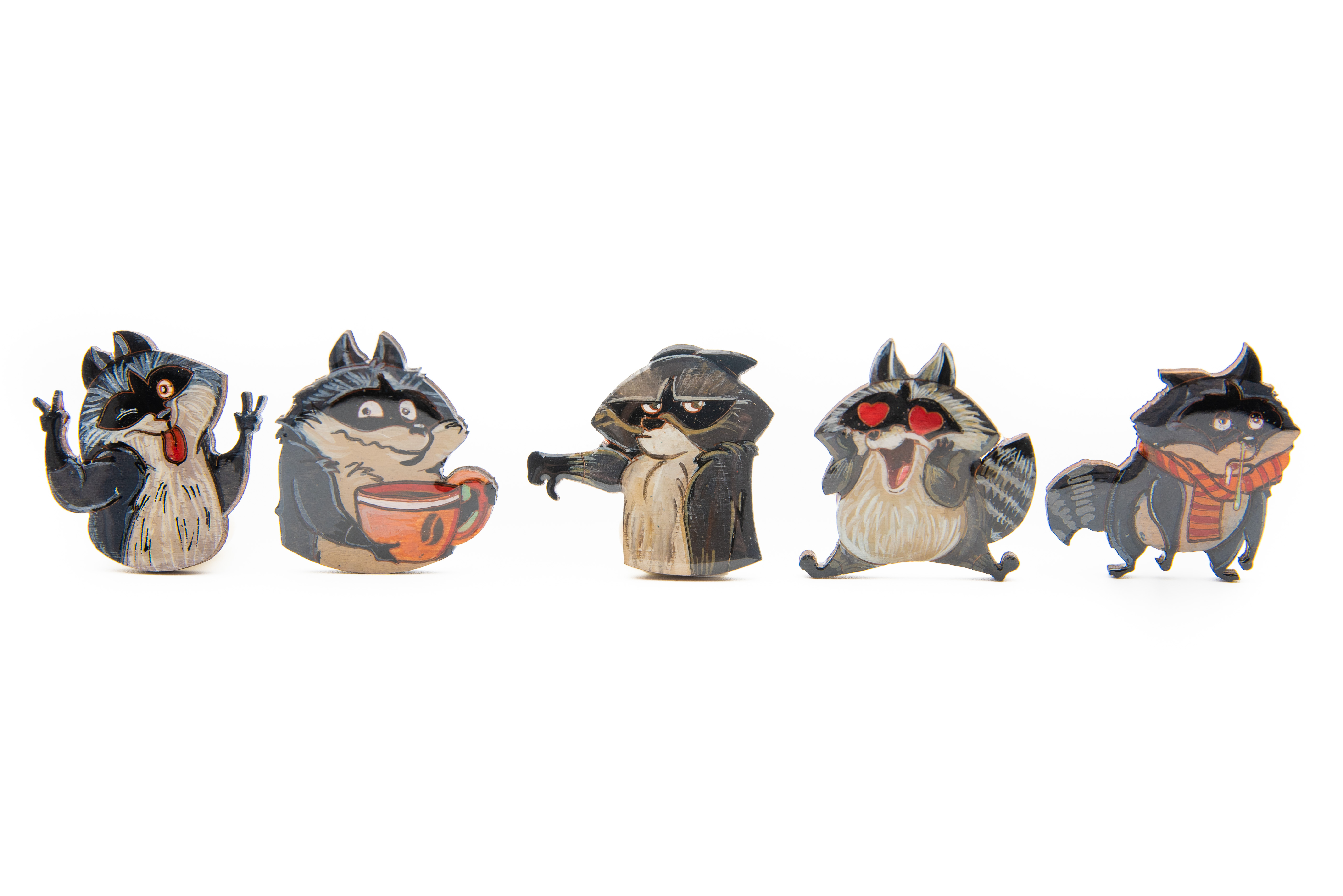 Brosa Lemn Funny Raccoon [2]